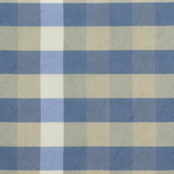 レーヨン×チェック(セージグリーン&シャドウブルー)×ローン イメージ1