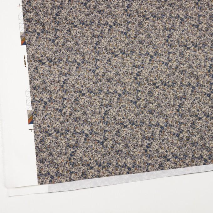 コットン&ポリウレタン×フラワー(ネイビー)×サテンストレッチ_全2色 イメージ2