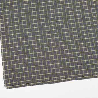 コットン×チェック(イエロー&ダークネイビー)×斜子織_全2色 サムネイル2