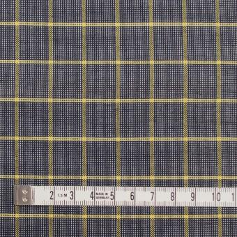 コットン×チェック(イエロー&ダークネイビー)×斜子織_全2色 サムネイル4