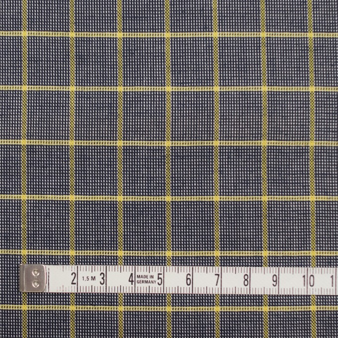 コットン×チェック(イエロー&ダークネイビー)×斜子織_全2色 イメージ4