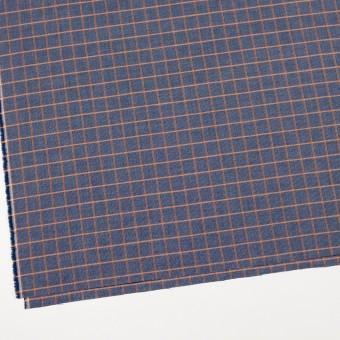 コットン×チェック(オレンジ&ネイビー)×斜子織_全2色 サムネイル2