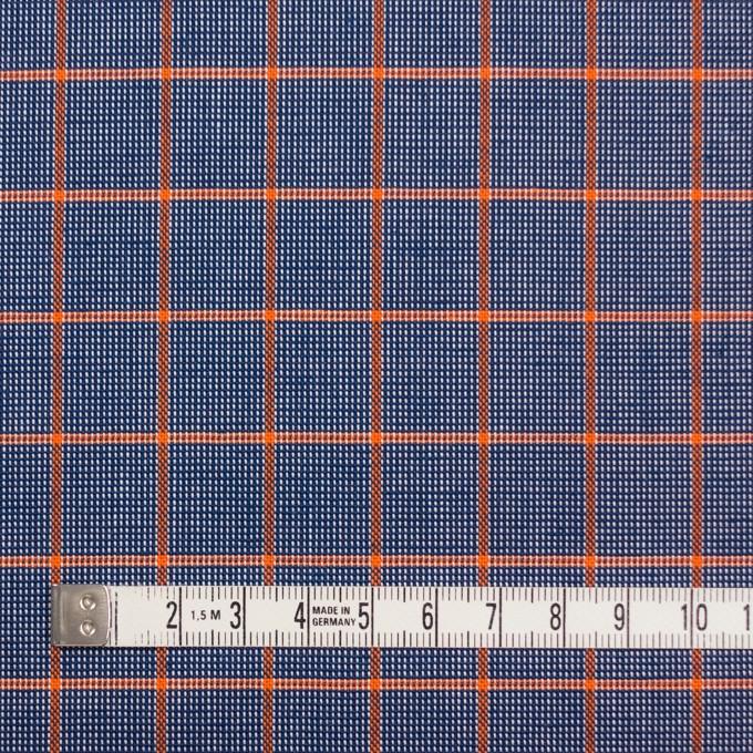 コットン×チェック(オレンジ&ネイビー)×斜子織_全2色 イメージ4