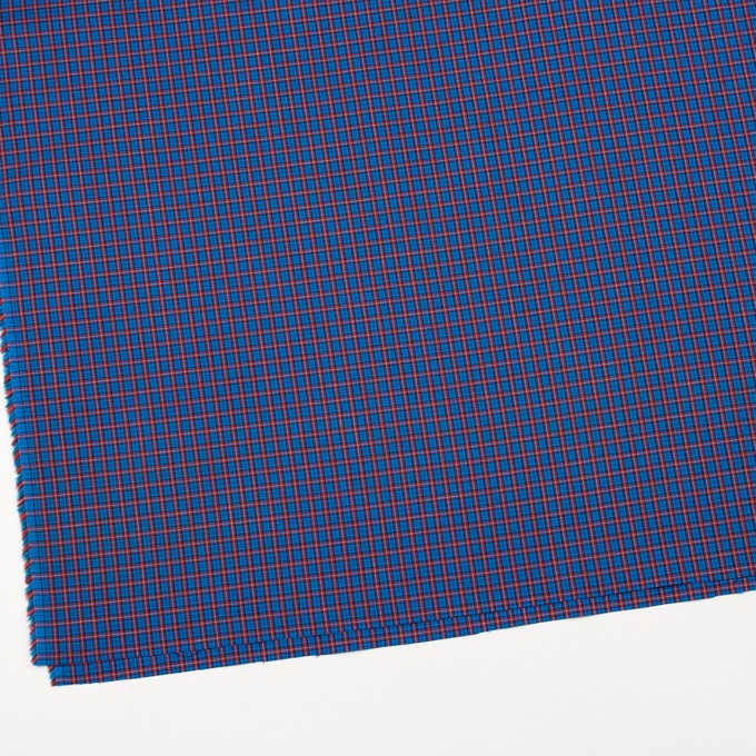 コットン×チェック(エンジ&ブルー)×キャンブリック イメージ2