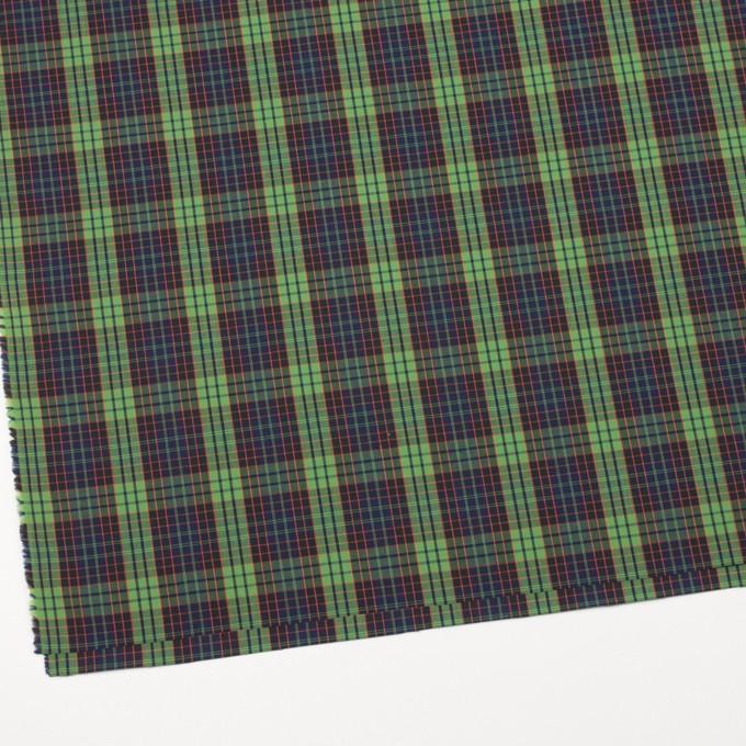 コットン×チェック(グリーン&ブラック)×ブロード イメージ2