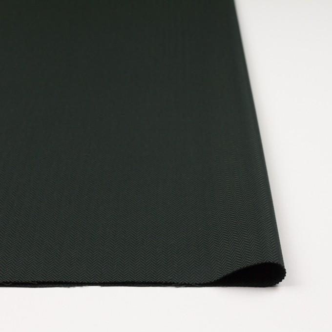 コットン×無地(ディープグリーン)×ヘリンボーン イメージ3