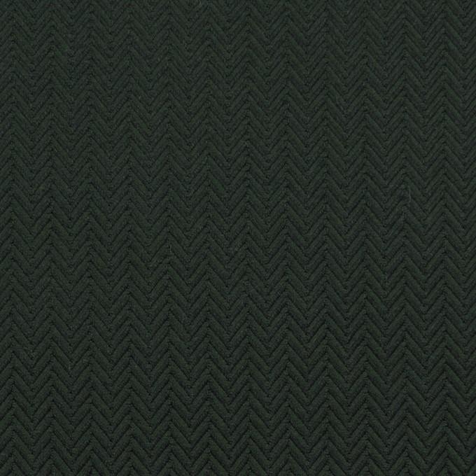 コットン×無地(ディープグリーン)×ヘリンボーン イメージ1
