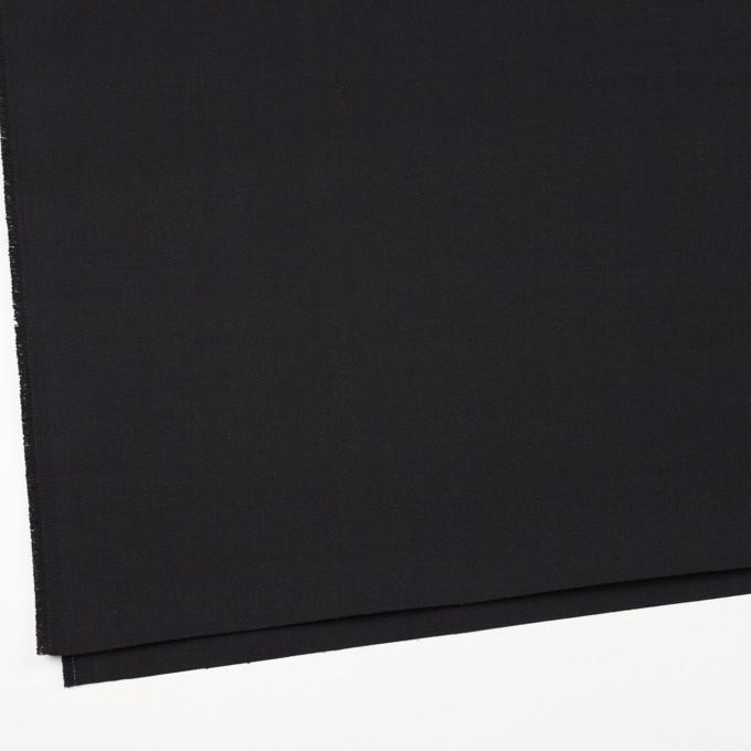 コットン×無地(ブラック)×厚サージ イメージ2