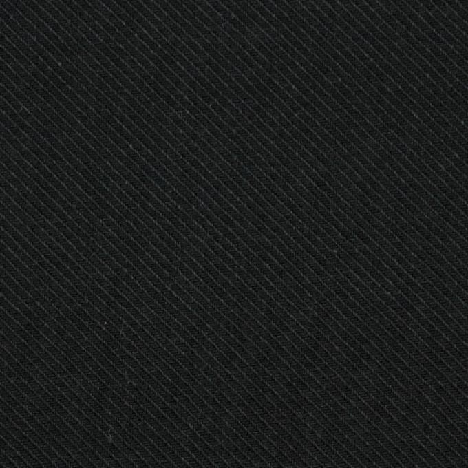 コットン×無地(ブラック)×厚サージ イメージ1