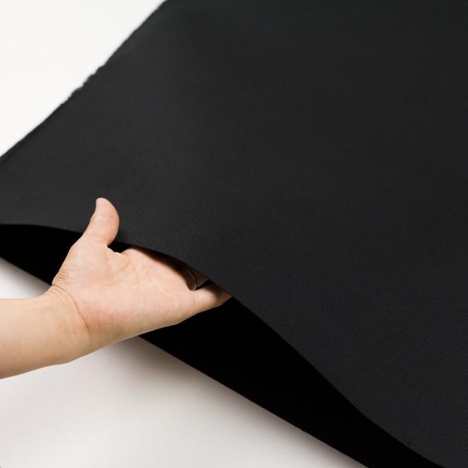 コットン×無地(ブラック)×厚サージ イメージ5