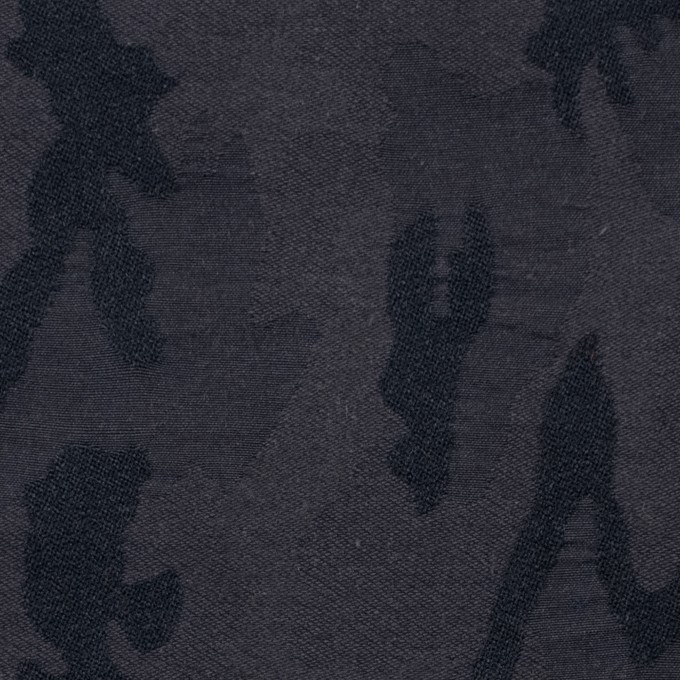 ナイロン&コットン混×幾何学模様(ダークレーズン)×ジャガードストレッチ イメージ1