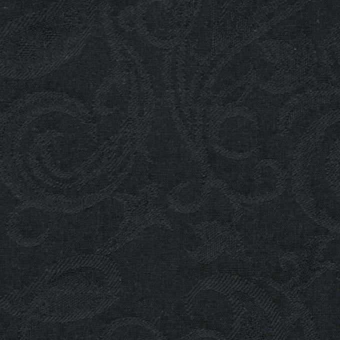コットン×ペイズリー(チャコールブラック)×ジャガード イメージ1