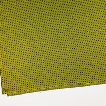 コットン&シルク×ドット(イエローグリーン)×斜子織 サムネイル2