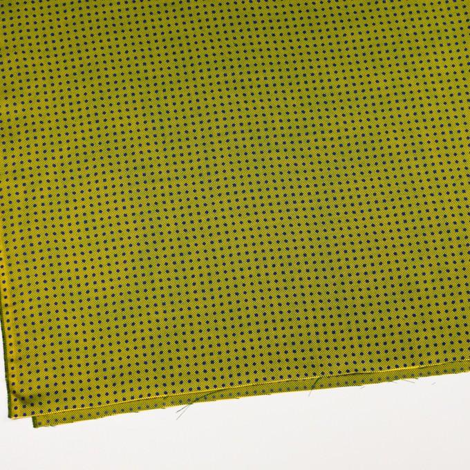 コットン&シルク×ドット(イエローグリーン)×斜子織 イメージ2