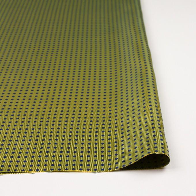 コットン&シルク×ドット(イエローグリーン)×斜子織 イメージ3