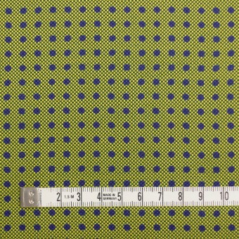 コットン&シルク×ドット(イエローグリーン)×斜子織 サムネイル4