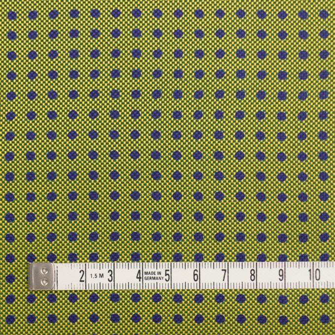 コットン&シルク×ドット(イエローグリーン)×斜子織 イメージ4