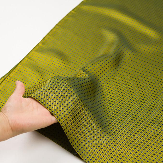 コットン&シルク×ドット(イエローグリーン)×斜子織 イメージ5