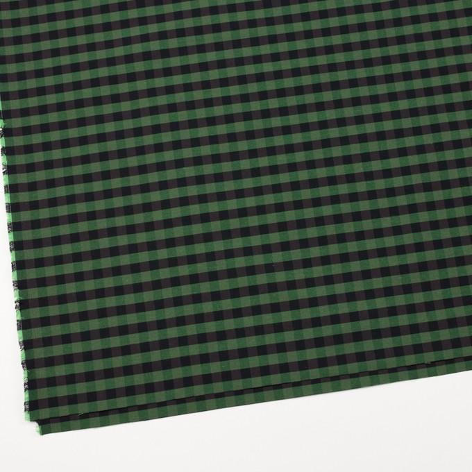 コットン&ポリエステル×チェック(メドウグリーン)×形状記憶タフタ_全4色 イメージ2