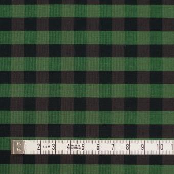 コットン&ポリエステル×チェック(メドウグリーン)×形状記憶タフタ_全4色 サムネイル4