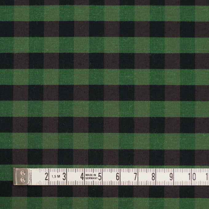 コットン&ポリエステル×チェック(メドウグリーン)×形状記憶タフタ_全4色 イメージ4