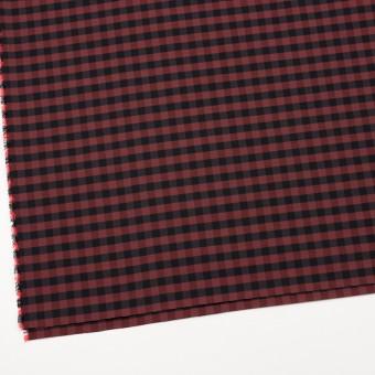 コットン&ポリエステル×チェック(カーマイン)×形状記憶タフタ_全4色 サムネイル2