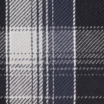 コットン×チェック(ブラック&ライトグレー、アイアンネイビー)×ビエラ_全3色
