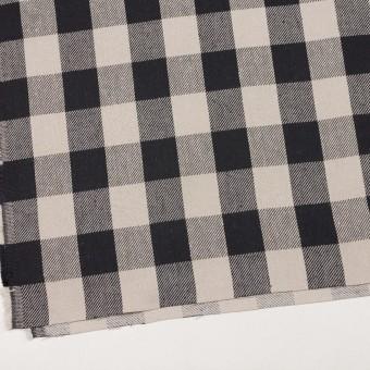 コットン×チェック(アイボリー&ブラック)×ビエラ_全3色 サムネイル2