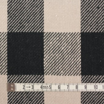 コットン×チェック(アイボリー&ブラック)×ビエラ_全3色 サムネイル4