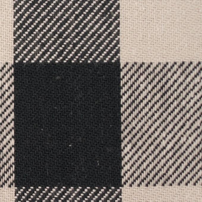 コットン×チェック(アイボリー&ブラック)×ビエラ_全3色 イメージ1
