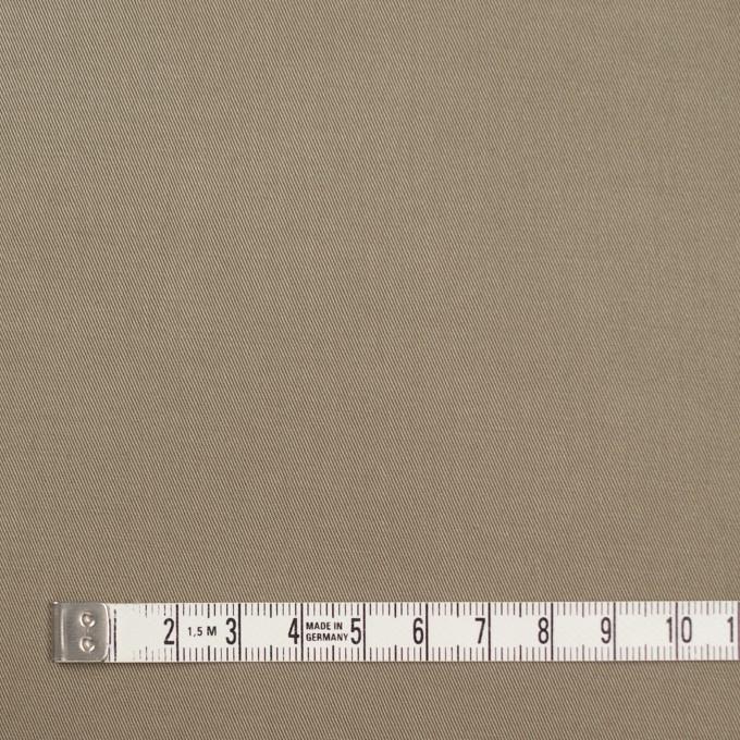 コットン&ポリウレタン×無地(カーキ)×ギャバジンストレッチ イメージ4