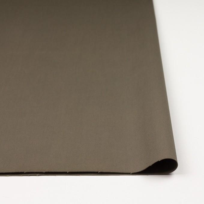 コットン&ポリウレタン×無地(カーキ)×サテンストレッチ イメージ3