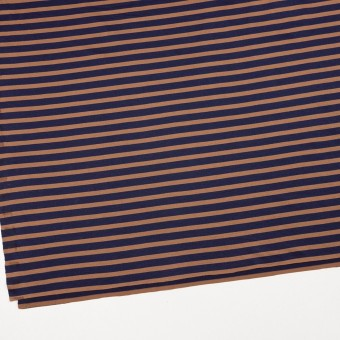 コットン&モダール×ボーダー(ネイビー&テラコッタ)×天竺ニット_全3色 サムネイル2