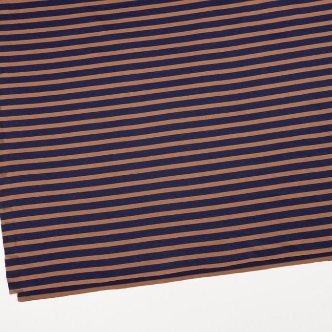 コットン&モダール×ボーダー(ネイビー&テラコッタ)×天竺ニット_全3色 イメージ2