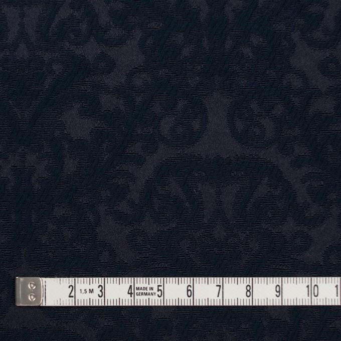 コットン&ポリエステル×幾何学模様(ブルーブラック)×サテンジャガード イメージ4