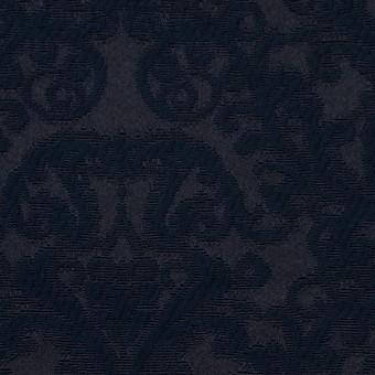 コットン&ポリエステル×幾何学模様(ブルーブラック)×サテンジャガード