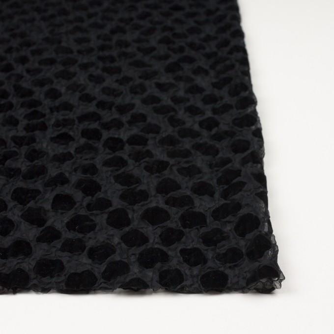 ポリエステル×ストーン(ブラック)×ジョーゼットフロッキー イメージ3