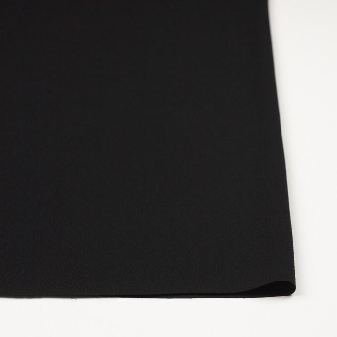 ポリエステル&トリアセテート×無地(ブラック)×バックサテンジョーゼット イメージ3