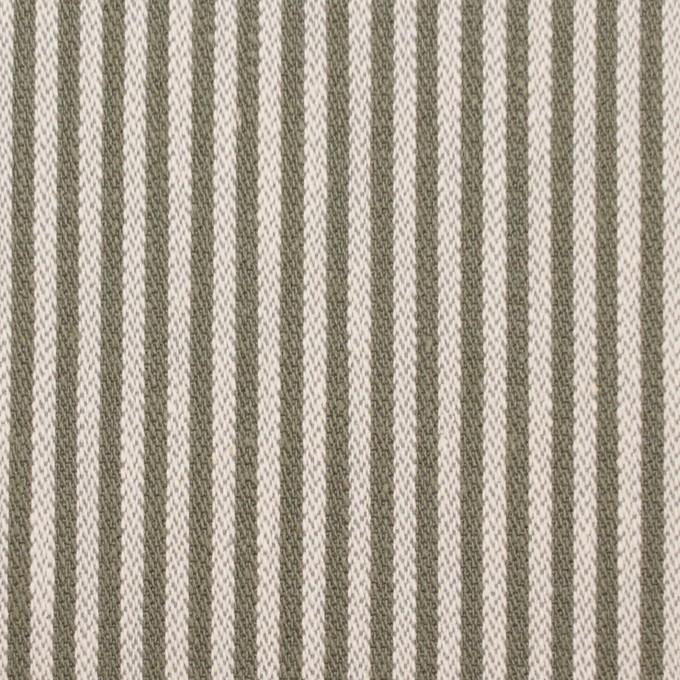 コットン×ストライプ(キナリ&オリーブ)×ヘリンボーン イメージ1