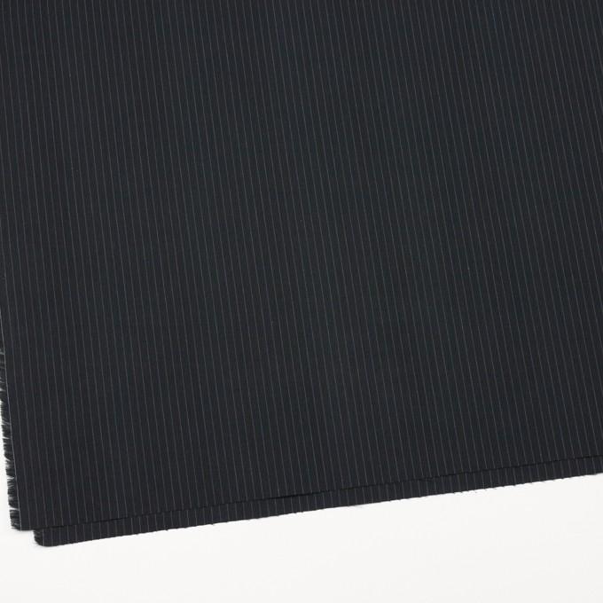 コットン×ストライプ(チャコールブラック)×ブロード イメージ2