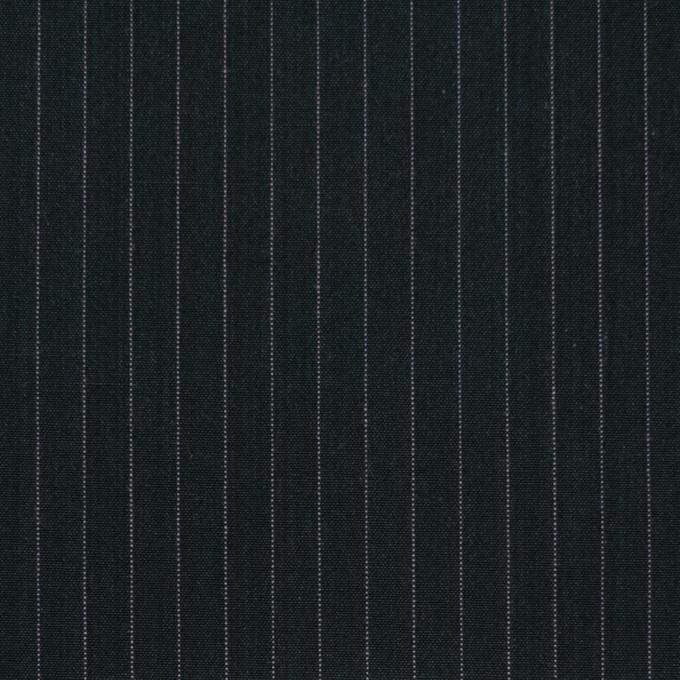 コットン×ストライプ(チャコールブラック)×ブロード イメージ1