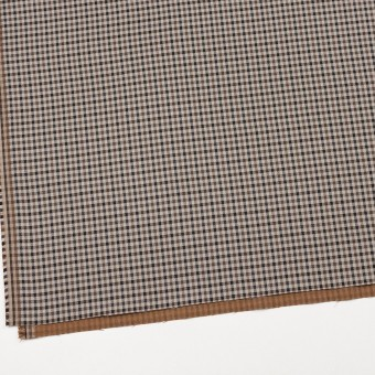 コットン&ポリウレタン×チェック(モカブラウン&ブラック)×ビエラストレッチ_全2色 サムネイル2