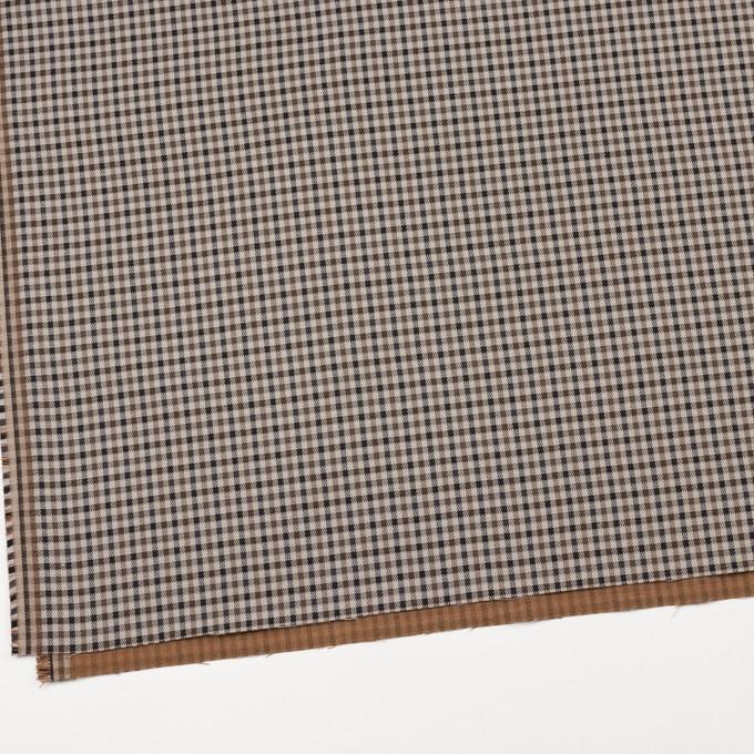 コットン&ポリウレタン×チェック(モカブラウン&ブラック)×ビエラストレッチ_全2色 イメージ2