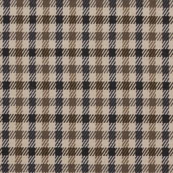 コットン&ポリウレタン×チェック(モカブラウン&ブラック)×ビエラストレッチ_全2色 サムネイル1