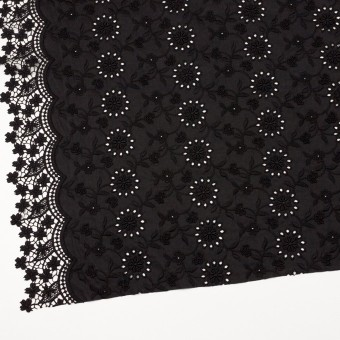 コットン×フラワー(ブラック)×ローンモチーフレース_全2色 サムネイル2