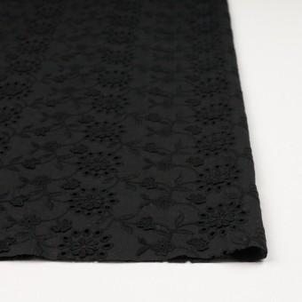 コットン×フラワー(ブラック)×ローンモチーフレース_全2色 サムネイル3