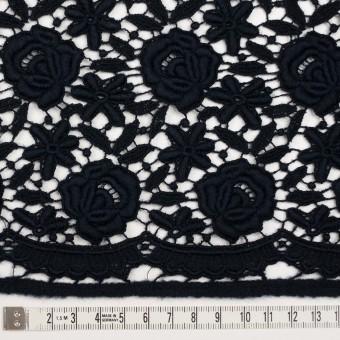 ウール×フラワー(ブラック)×ケミカルレース_全2色 サムネイル4