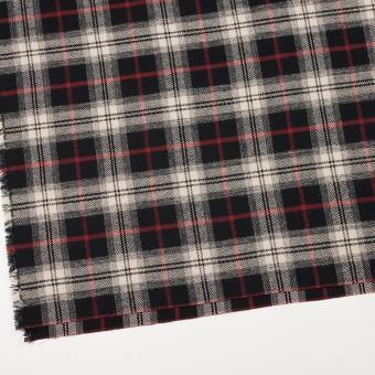コットン×チェック(キナリ、レッド&ブラック)×ヘリンボーン サムネイル2