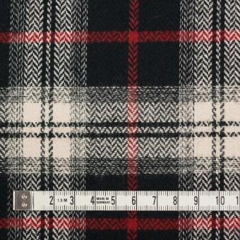 コットン×チェック(キナリ、レッド&ブラック)×ヘリンボーン サムネイル4