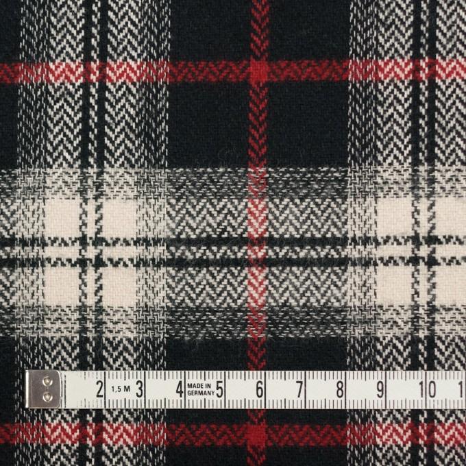コットン×チェック(キナリ、レッド&ブラック)×ヘリンボーン イメージ4